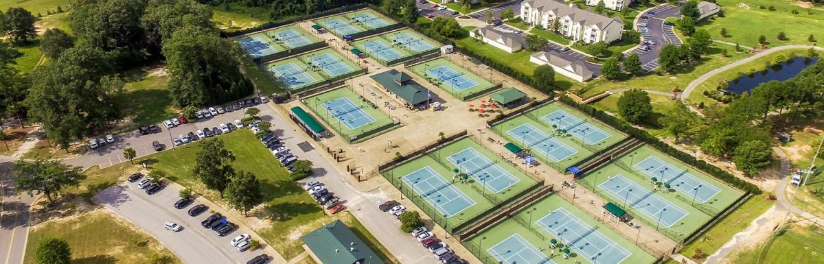 Aerial View of Palmetto Tennis Center