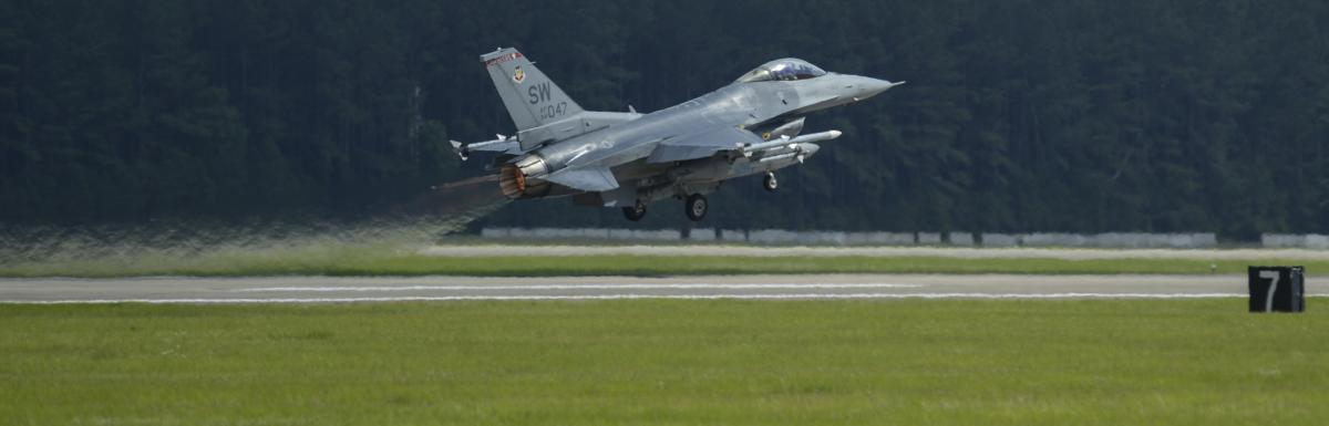 F-16 Taking off at Shaw Field