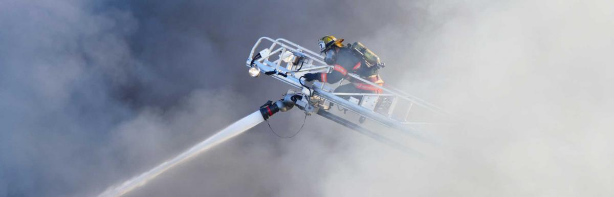 Firefighter on Ladder