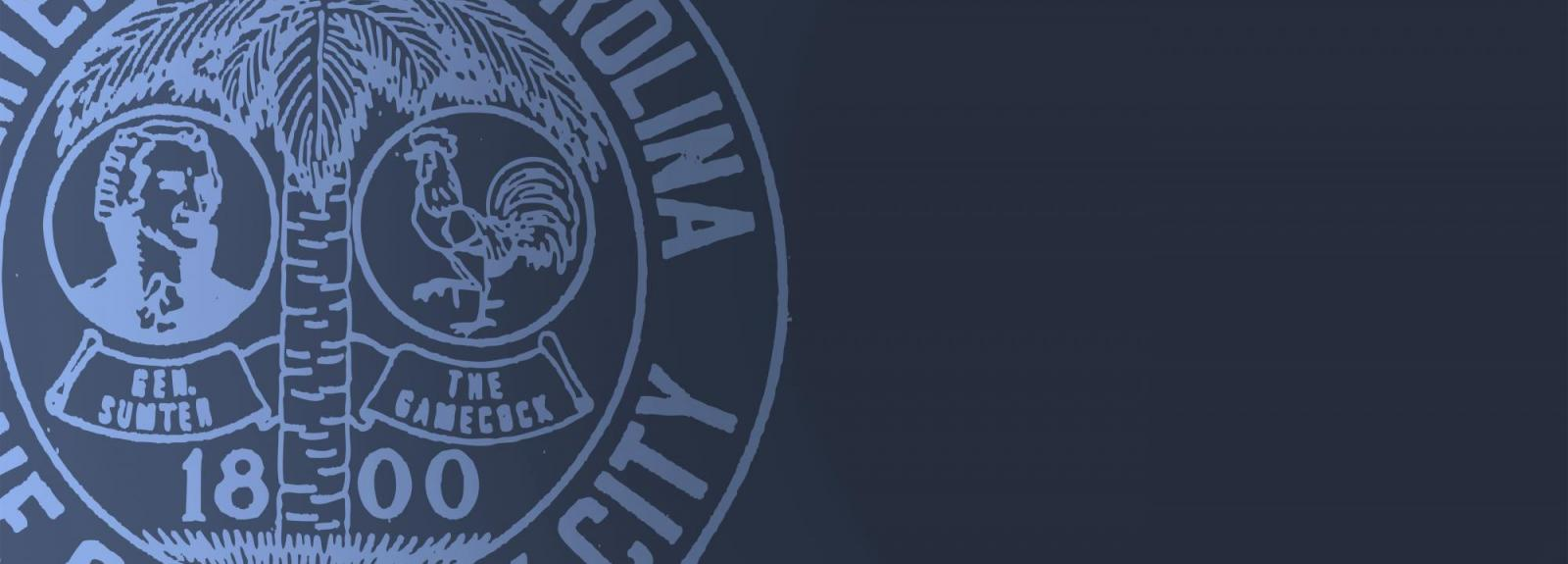 City Seal on Blue Background