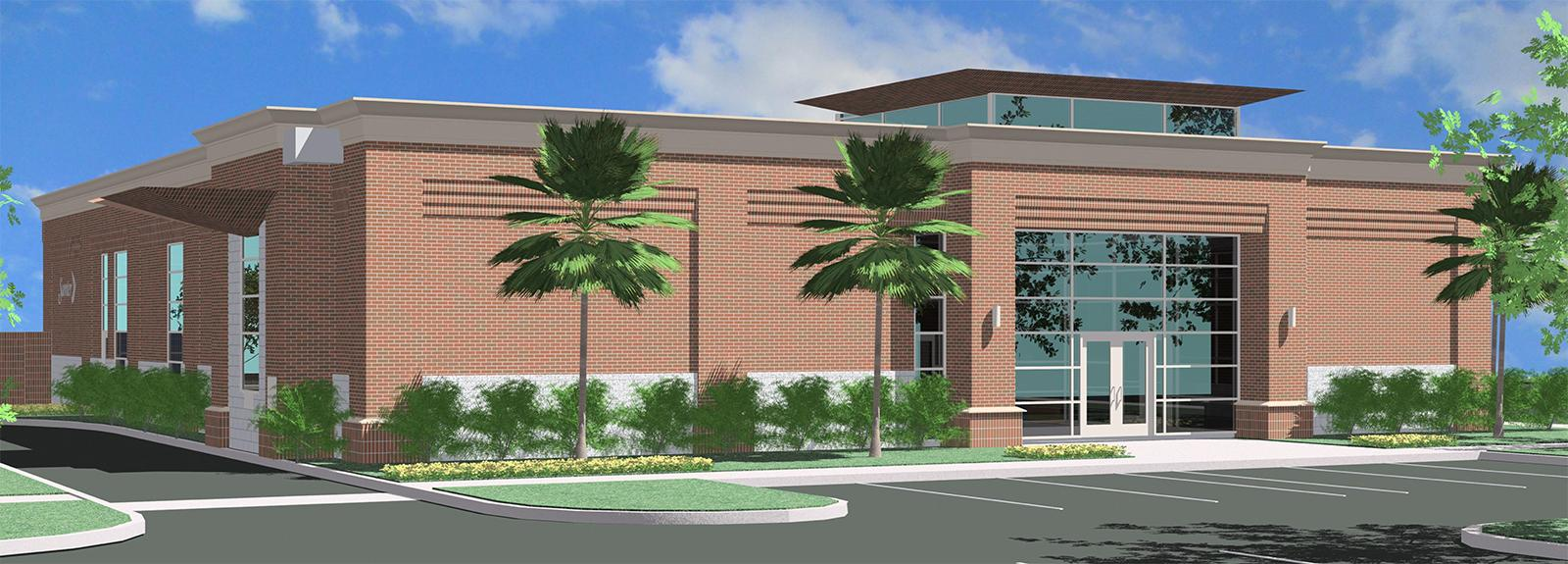 Rendering of City Utility Billing Office