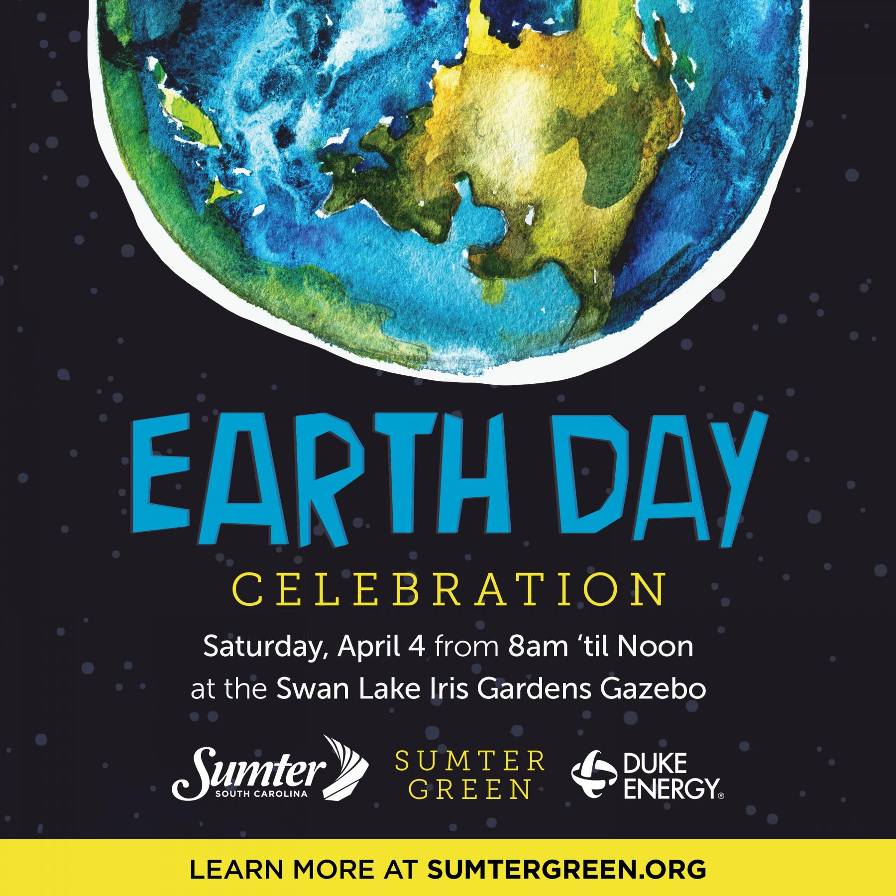 Earth Day, April 4, 2020 from 8am until 12pm